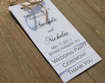 Layered Wedding Ceremony Program