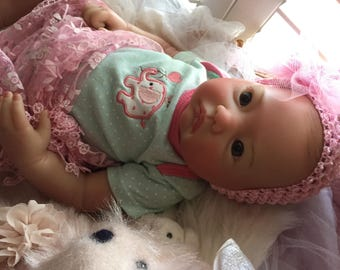 Reborn Baby Girl Doll Completed 20 inch Baby Layla with Painted Hair