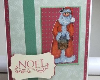 Noel Santa - Handmade Christmas Card