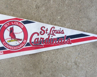 St Louis Cardinals Pennant Vintage Sports Pennant Baseball Flag Sports Memorabilia