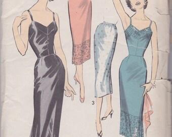 1950s Lingerie Slip Pattern Advance 8229 Size 16 Uncut