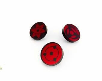 UPDATED! Naruto Sharingan Eye Lasercut Pins