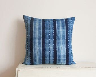 "RESERVED FOR NISHA - Indigo Shibori pillow cushion cover 22"" x 22"""