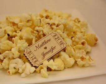 Personalized Wood Movie Tickets, Movie Tickets, Movie Night, Party, Invitation, Wedding, Birthday, Favor, Favors