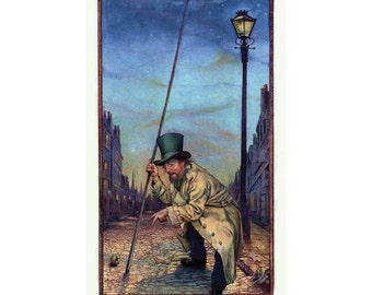 The Old Lamplighter 18x24 Poster by Tony Troy