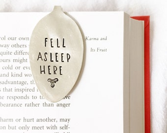 Bookmark, Fell Asleep Here. Spoon Book Marks for Book Lover Gift Idea. By Milk & Honey.