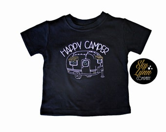 Happy Camper Embroidered Shirt or Bodysuit Toddler & Baby Sizes