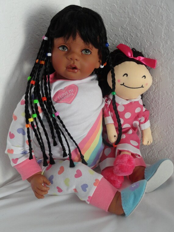 Reborn 22 African American Ethnic Biracial Toddler Girl