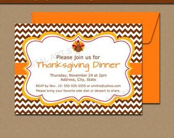 Thanksgiving Invitations - Thanksgiving Baby Shower Invites - Thanksgiving Dinner Invitation - Thanksgiving Birthday Template Printable T4