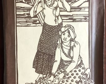 1980's Folkwear Pattern, Nepali Blouse, Peasant Top - No. 111