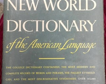 Webster's New world Dictionary of the American Language College Edition, The World Publishing Company, 1958