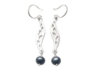 earrings 925 silver  , pearls