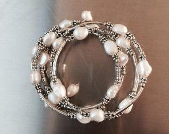 Fresh Water Pearl Wrap Bracelet