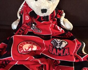2015 National Champions! Alabama Crimson Tide Football Block Fleece Sports Baby Blanket