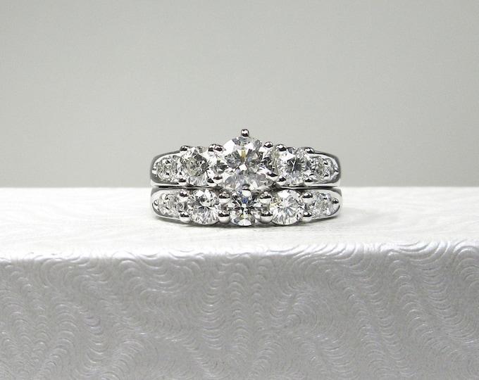 White Gold Diamond Wedding Set; Diamond Wedding Set; Estate Diamond Wedding Set; Engagement Ring; Wedding Ring; Wedding Set