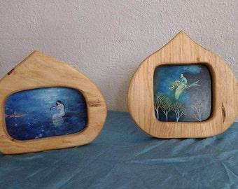 Wooden Frame postcard size / Wood Postcard holder  / Wood frame waldorf inspired home