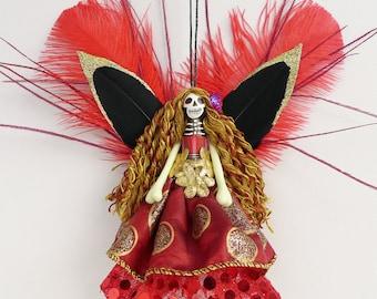 Christmas Ornament, tree decoration, fairy christmas ornament, OOAK ornament
