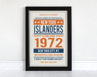 New York Islanders - Screen Printed Poster