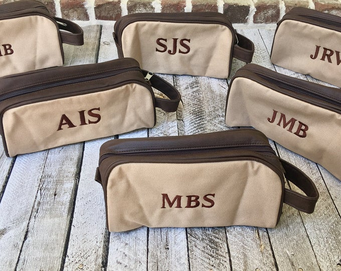 Monogrammed Dopp Kit, Groomsman Gifts, Father's Day Gifts, Monogrammed Toiletry Bag, Monogrammed Gifts for him, Dawson Toiletry Bag
