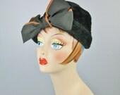 Black and Tan Hat / Vtg 5...