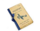 Custom Adoption Shower Guest Book, Baby Wish Book, Travel Baby Shower Guest Book, Airplane, Navy, Personalized, Passport, Advice for New Mom