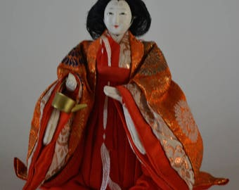 Hina doll, vintage Japanese ningyo, early Showa period #12