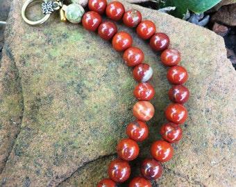 Jasper Power Gemstone Necklace