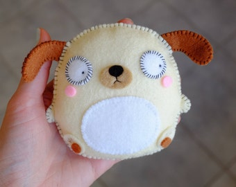 Cute funny dog plush doll