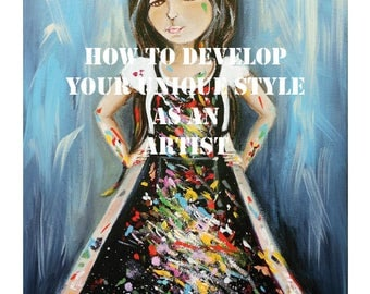 Art workshop -  PDF e-course - art lessons - fine art course - creativity - mixed media painting - journaling course