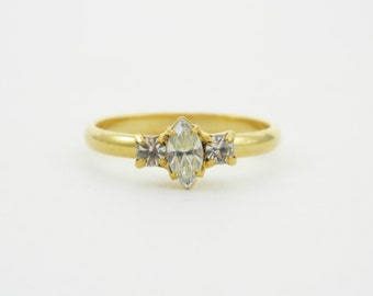 Petite Marquise White Topaz Ring