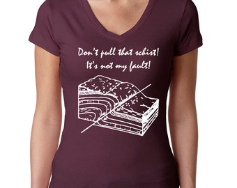 TShirt Pun with Rocks, Geology Graduate Shirt for Science Geeks, Gift for Her