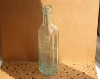 1 Vintage Bottle Brand & Co Ltd A1 Sauce Bottle Green Tinge Clear Glass
