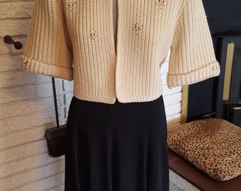 Super Cute 1950s Crop Sweater!! Size Medium!