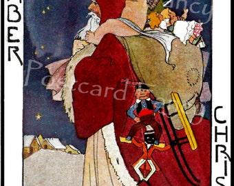 Darling DECEMBER Vintage Postcard, Calendar Month, Instant Digital Download