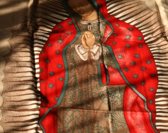 Super sized Velvet Holy Mother Tapestry