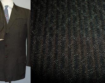 1950s Suit / 40 / M / Western Suit / H Bar C / Rockabilly / Sharkskin / Stage / Cowboy / Country / 1960s Suit / Vintage 1950s Mens Style