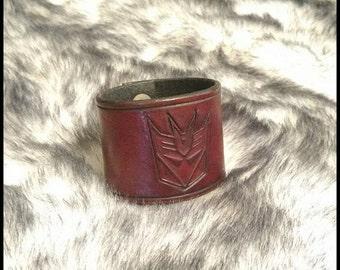 Decepticon Leather Cuff Bracelet
