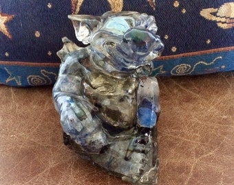 Baby Gargoyle, Dragon, Blue Moon born. Blue Crystals, Approx 1 lb 12 ounces, Magickal! Elemental Energy and Blue Moon blessed.