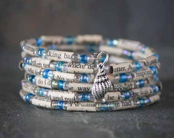 Nicholas Sparks, The Guardian, The Guardian jewelry, the Guardian bracelet, recycled book bracelet, charm bracelet, book bead bracelet