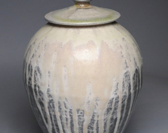 Wood Fired Covered Ginger Jar Ash Urn F40