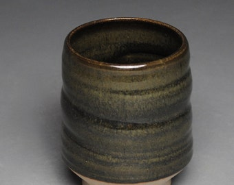 Tumbler Wine Cup Stoneware Green G2
