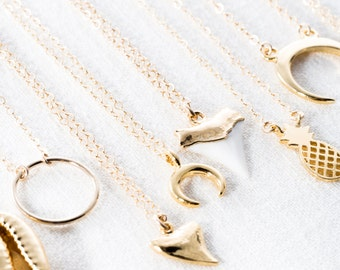 Mano Petite necklace - tiny gold shark tooth necklace, gold filled necklace, shark tooth pendant necklace necklace, hawaii jewelry, maui