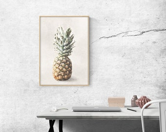 Wall Art - Art Print - Home Decor - Illustration - Painting - Pineapple - Tropical