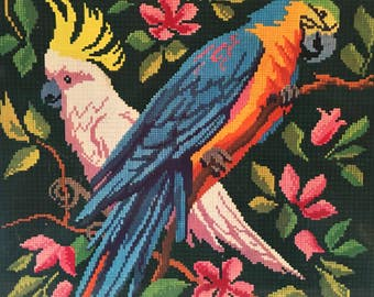 Vintage Peek Frean Parrot Tin Kitsch Cute Bird