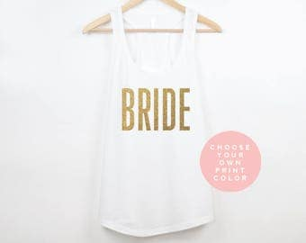Bride Tank Top, Bachelorette Tank Top, Bride Shirt, Mrs. Tank, Bachelorette Party Shirts, Bachelorette Tanks, Bride Top