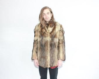 Vintage 50s Fox Fur Pimp Daddy Jacket