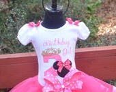 Minnie Mouse (Birthday Girl)  Embroidered Shirt ONLY