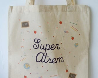 """Tote bag """"Super?"""" - end year gift teacher gift to school gift?"""