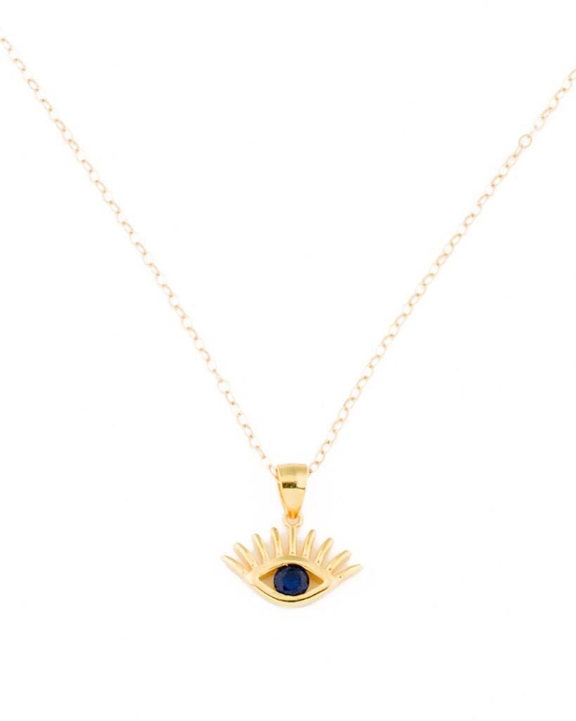 gold evil eye necklace evil eye pendant gold layered