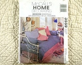 Bedroom Essentials Pattern, McCalls 3559, Home Decor, Pleated Bedskirt, Table Cover, Topper, Pillows, Cushions, 2002 Uncut